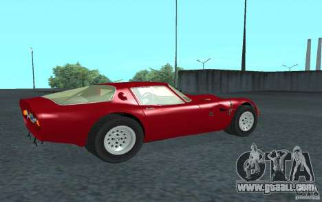 Alfa Romeo Gulia TZ2 1965 for GTA San Andreas back left view