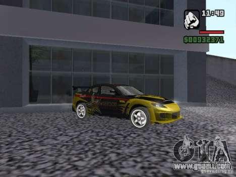 Mazda RX-8 Rockstar for GTA San Andreas left view