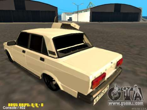 VAZ 2107 for GTA San Andreas side view