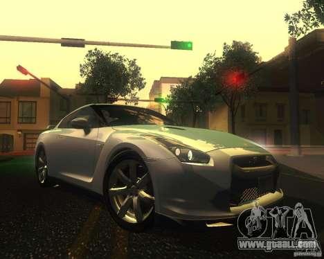 Nissan GTR R35 Spec-V 2010 Stock Wheels for GTA San Andreas bottom view