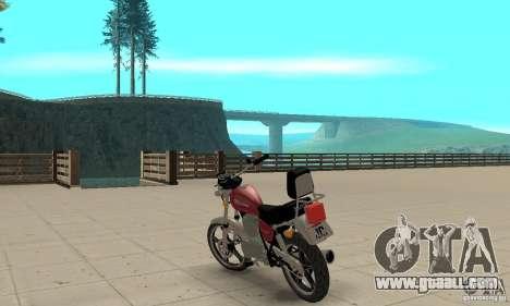 Suzuki Intruder 125cc for GTA San Andreas back left view