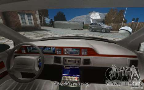 Chevrolet Caprice 1991 Police for GTA 4 engine