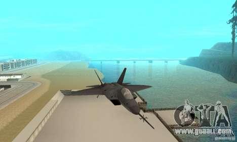 YF-22 Black for GTA San Andreas back view