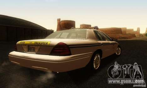 Ford Crown Victoria South Carolina Police for GTA San Andreas left view