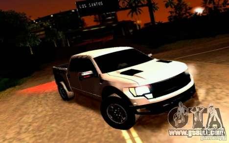 Ford Raptor Crewcab 2012 for GTA San Andreas
