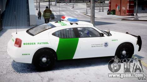 Dodge Charger US Border Patrol CHGR-V2.1M [ELS] for GTA 4 back left view