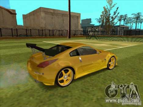 Nissan 350Z MORIMOTO from FnF 3 for GTA San Andreas right view