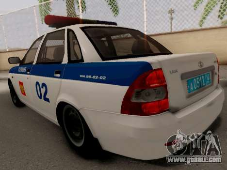 LADA 2170 DPS for GTA San Andreas back left view