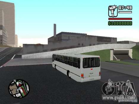 Busscar Urbanus SS Volvo B10M for GTA San Andreas back left view