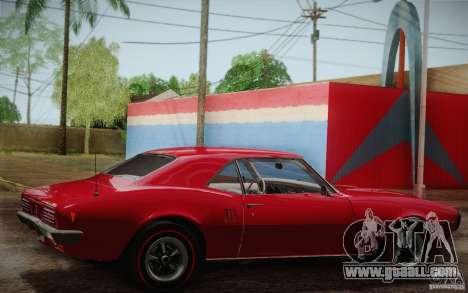 Pontiac Firebird 400 (2337) 1968 for GTA San Andreas engine