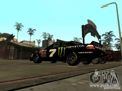 Toyota Camry Nascar Monster Energi Nr.7 for GTA San Andreas back left view