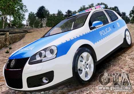 Volkswagen Golf V Polish Police for GTA 4