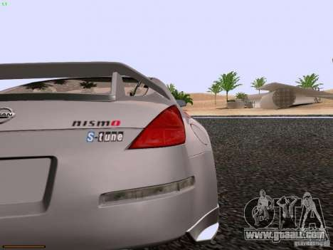 Nissan 350Z Nismo S-Tune for GTA San Andreas back view
