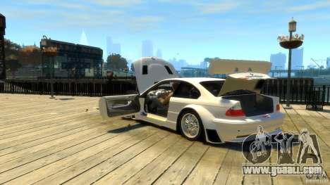 BMW E46 M3 GTR Sport for GTA 4 upper view