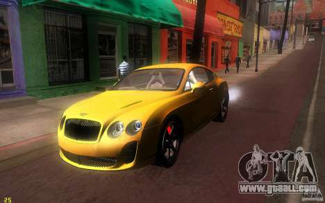 Bentley Continental SS for GTA San Andreas left view