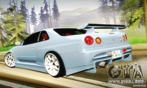 Nissan Skyline GT-R R34 for GTA San Andreas side view