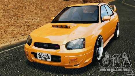 Subaru Impreza WRX STI 2005 for GTA 4