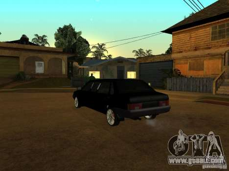 VAZ 21099 Limousine for GTA San Andreas back view