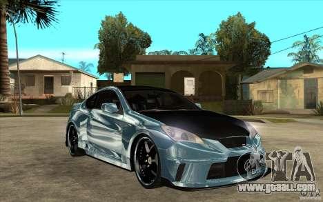 Hyundai Genesis Tuning for GTA San Andreas back view