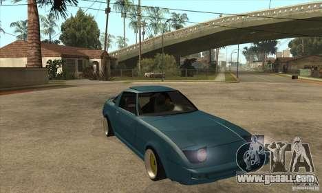 Mazda RX7 SA22C for GTA San Andreas back view