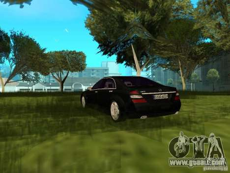 Mercedes Benz S600 for GTA San Andreas back left view