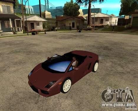 Lamborghini Gallardo LP560-4 Spyder for GTA San Andreas