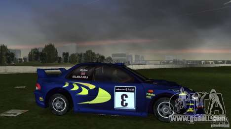 Subaru Impreza 22B Rally Edition for GTA Vice City right view