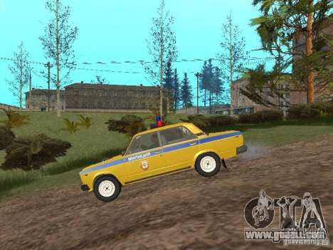 VAZ 2107 CAR INSPECTION for GTA San Andreas left view