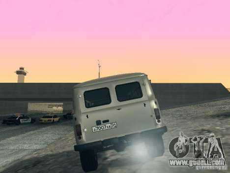 UAZ 2206 for GTA San Andreas back left view