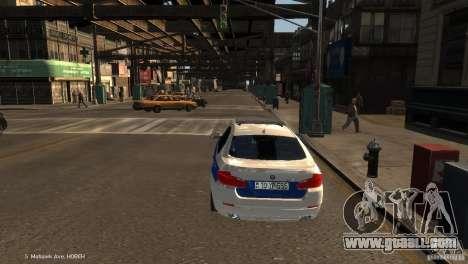 BMW 550i Azeri Police YPX for GTA 4 back left view