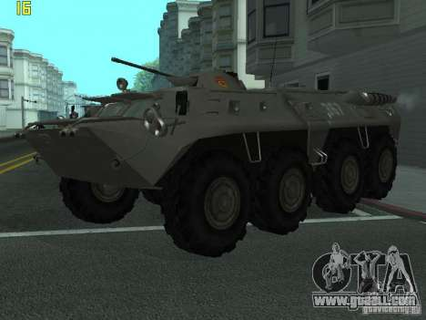 BTR-80 for GTA San Andreas back view
