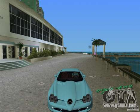 Mercedess Benz SLR Maclaren for GTA Vice City back left view
