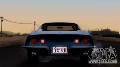 Chevrolet Corvette C3 Stingray T-Top 1969 v1.1 for GTA San Andreas inner view