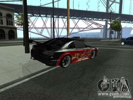 Nissan S15 vDragon for GTA San Andreas back left view