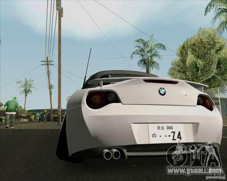 BMW Z4 Hellaflush for GTA San Andreas right view