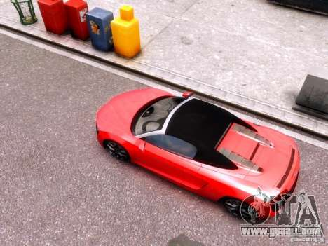 Audi R8 Spyder 5.2 FSI quattro V4 EPM for GTA 4 back view