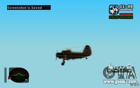Antonov an-2 for GTA San Andreas inner view