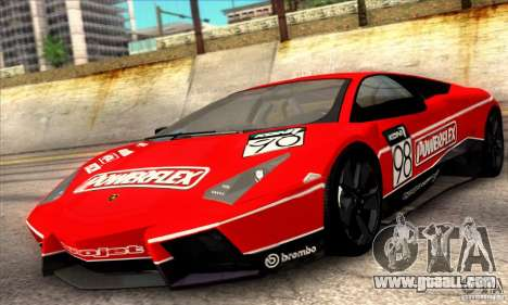 Lamborghini Reventon for GTA San Andreas upper view