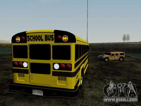 International Harvester B-Series 1959 School Bus for GTA San Andreas back view