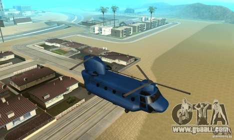 CH-47 Chinook ver 1.2 for GTA San Andreas side view