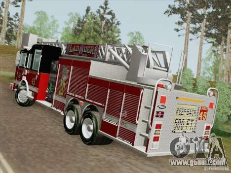 Pierce Rear Mount SFFD Ladder 49 for GTA San Andreas left view