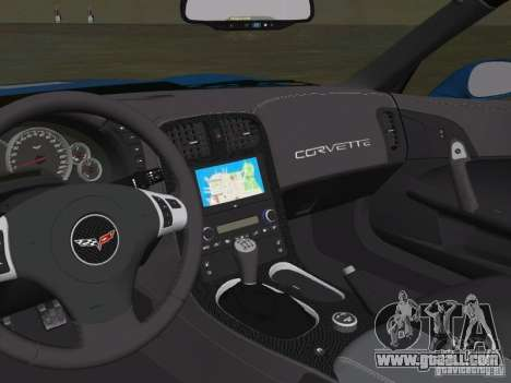 Chevrolet Corvette ZR1 for GTA Vice City back view