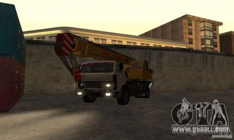 MAZ Truck Crane for GTA San Andreas back view