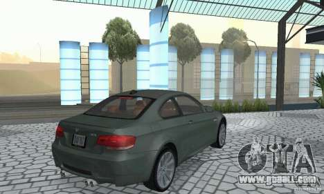 BMW M3 E92 Stock for GTA San Andreas back left view