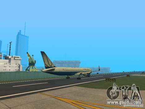 Boeing 767-300 United Airlines New Livery for GTA San Andreas right view
