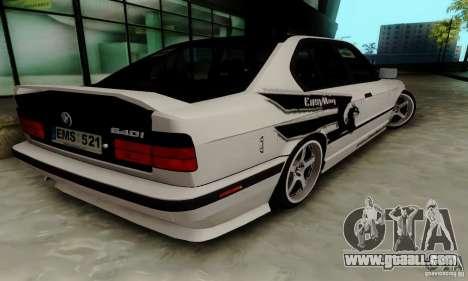 BMW E34 540i Tunable for GTA San Andreas back view