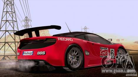 McLaren MP4-12C Speedhunters Edition for GTA San Andreas upper view