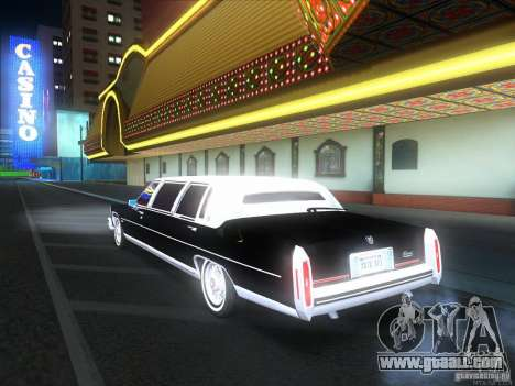 Cadillac Fleetwood Limousine 1985 for GTA San Andreas back view