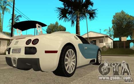 Spoiler for the Bugatti Veyron Final for GTA San Andreas forth screenshot