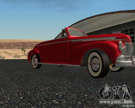 Chevrolet Special DeLuxe 1941 for GTA San Andreas side view